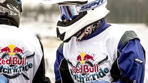 red bull motocross gear red bull twitch u0027n u0027ride skijoring ski racing behind motorcycles