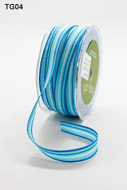 blue and white striped ribbon 1 2 inch grosgrain variegated stripes ribbon may arts wholesale