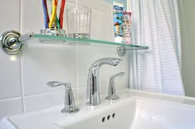 Glass Shelves For Bathroom Wall Bathroom Interior Floating Bathroom Wall Shelves Above