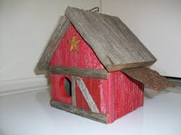 red barn birdhouse home decor rustic roosts