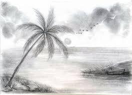 nature scene drawing beautiful scenery drawings pencil pencil