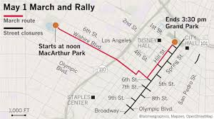 Map Of Los Angeles Cities by May Day Road Closures For Downtown L A Boyle Heights La Times