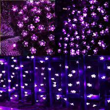dephen solar string lights 22ft 50 led fairy blossom string lights