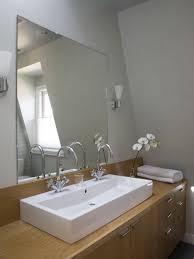 Unique Bathroom Mirrors by Frameless Bathroom Mirror Home Design Ideas And Pictures
