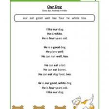 kindergarten reading comprehension worksheets page 4 of 6 have