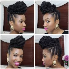 detangling marley hair braided updo on natural hair using marley hair kyss my hair