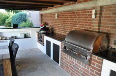 aussenküche bauanleitung außenküche selber bauen terrasse überdachung betonwände