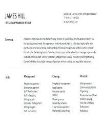 resume exles for restaurant restaurant manager resume restaurant resume exle restaurant
