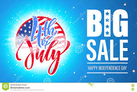 4 july usa independence day fireworks sale poster flyer stock
