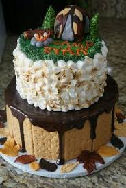 outdoor camp themed birthday cake indulge cakes pinterest