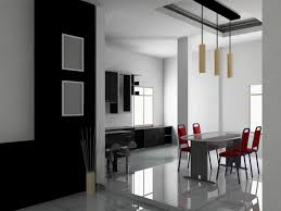 contemporary white dining room light wooden laminated floor dark