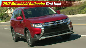 mitsubishi outlander sport 2014 red 2016 mitsubishi outlander first look youtube