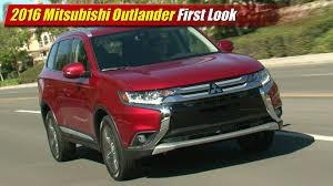 mitsubishi outlander sport 2014 red 2016 mitsubishi outlander first look youtube
