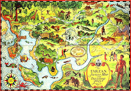 Africa Map Games by Erbzine 3043 Tarzan Maps From The Erb Atlas