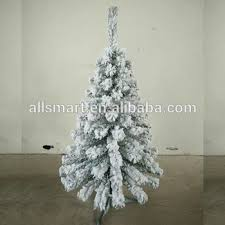 120cm flocking tree artificial pvc self snowing