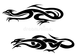 dragons tattoos stock vector illustration of legendary 25539065