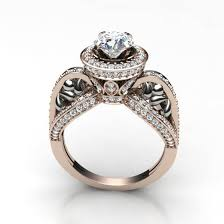 diamonds solitaire rings images Ct si1 2 natural diamond designer solitaire ring wedding band jpg