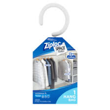 ziploc space bag 2 pack vacuum seal hanging bag bed bath beyond