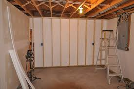 Spray Foam Insulation For Basement Walls by How To Finish Exterior Foam Insulation Unfinished Bat Wall