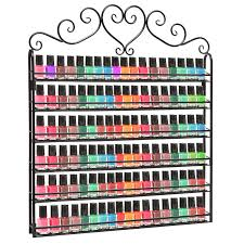 6 tier professional black metal nail polish organizing display