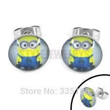 minion earrings aliexpress buy free shipping enamel lovely minions earring