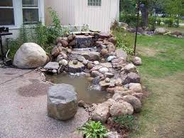 Garden Waterfall Ideas Small Backyard Waterfalls And Ponds How To Build A Fish Pond Outdoor