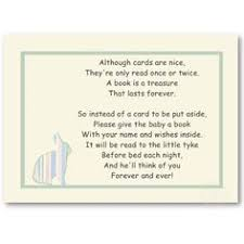 bring a book instead of a card poem baby shower rhyme tell guests to bring a child book instead of