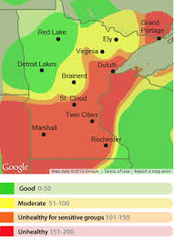 Twin Cities Map Air Pollution Alert Expanded To All Of Mn Twin Cities Air Is
