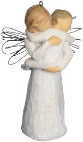 amazon com willow tree angel u0027s embrace ornament by susan lordi