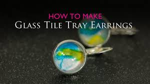 How To Make Fused Glass Jewelry - how to make glass tray earrings youtube