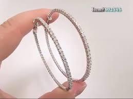 inside out diamond hoop earrings 2 inch diamond hoop earrings 1ct 14k gold inside out hoops