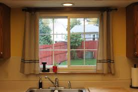awesome kitchen window treatment and brown curtain kitchen