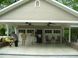 cottage garage plans building a carport patio notice the ceiling fans isn u0027t that a