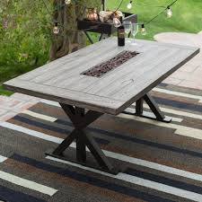 Driftwood Outdoor Furniture by Belham Living Silba Envirostone Fire Patio Dining Table With