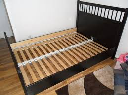 black wood double bed frame in jordanhill glasgow gumtree
