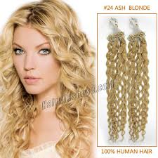 24 inch extensions inch lustrous 24 ash curly micro loop hair extensions 100