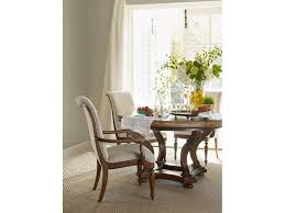 hooker furniture archivist 54in round dining table w 1 18in leaf
