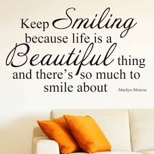 keep smiling marilyn monroe quote gorgeous bedroom wall sticker 12 photos of the