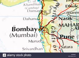 Up Map Close Up Of Atlas Map Of Mumbai India Which Was Formerly Known As