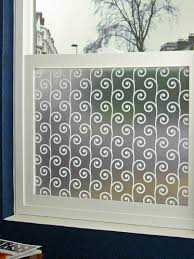 bathroom stick on glass frosting with bathroom window blinds