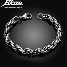 man hand bracelet images 2017 mens bracelets bangles 5 12mm 316l stainless steel wrist jpg