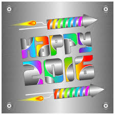 clipart happy 2016 card