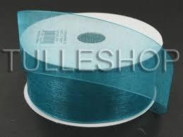 teal ribbons 1 1 2 inch teal organza ribbon mono edge