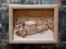 Vintage Ford Truck Gifts - new series for the classic truck car enthusiasts wood carved 1932