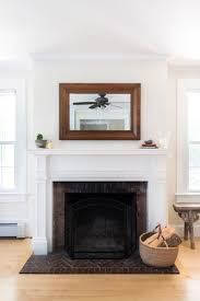 mirror over fireplace mantel decorating idea inexpensive photo