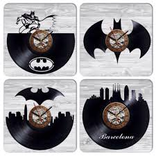 Home Decor Parties Wall Clock Made Of Vinyl Record Awesom Home Decoration Or Gift