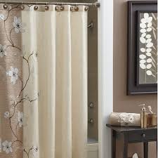 Shower Curtains Black Purple Fabric Shower Curtains Two Support Black Iron Table