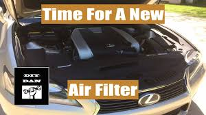 how to install a new air filter on a 13 u0027 lexus gs350 youtube