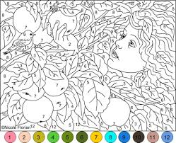 color by number pages 224 coloring page