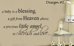 blessing baby items similar to a baby is a blessing from heaven nursery vinyl